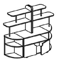 Игровой модуль для развивающей деятельности (1600х400х1200 мм) арт. КП1