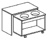 """Игровой модуль для развивающей деятельности """"вода+песок"""" (800х400х620 мм) арт. КП2, фото 1"""