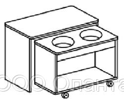 """Игровой модуль для развивающей деятельности """"вода+песок"""" (800х400х620 мм) арт. КП2"""