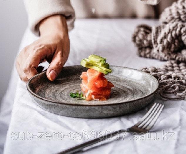 Керамическая глазурованная тарелка 19см