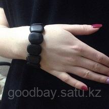 Лечебный браслет Бяньши из черного нефрита, фото 2