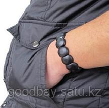 Лечебный браслет Бяньши из черного нефрита, фото 3
