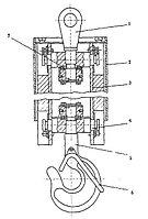 Крюк с траверсой и подшипником КС-3577-3.63.350(18А)