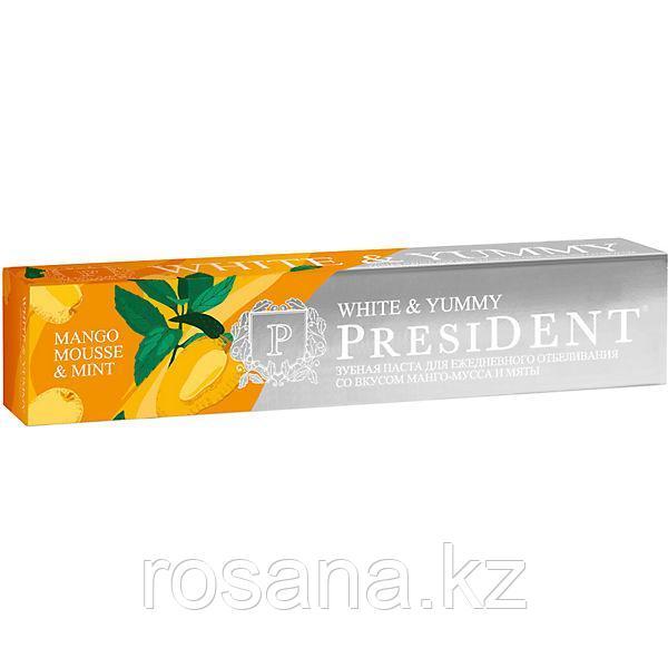 Зубная паста PRESIDENT® White & Yummy Манго-мусс с мятой 75г
