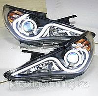 Передние фары Sonata Angel Eyes LED head lamp 2009-12 Type 2