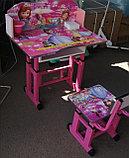 Парта со стулом регулируются по высоте, фото 2