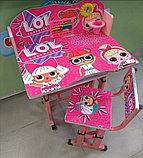 Парта со стулом регулируются по высоте, фото 3