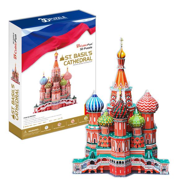CubiFun 3D Собор Василия Блаженного MC093h. Россия, 214 деталей