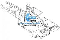 Рама поворотная КС-45721.50.000-01 (под отопитель Планар) для автокрана Челябинец КС-45721
