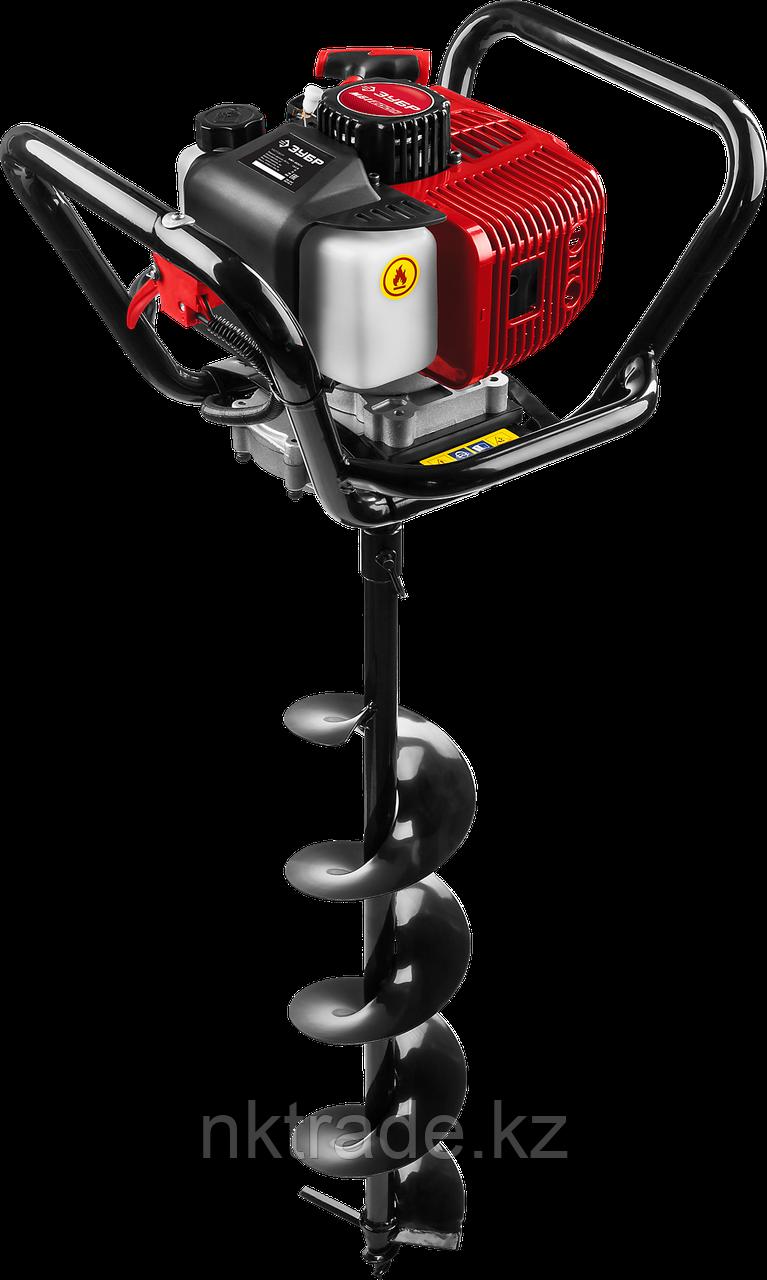 Мотобур (бензобур) со шнеком МБ1-200 Н, d=60-200 мм, 52 см3, 1 оператор, ЗУБР