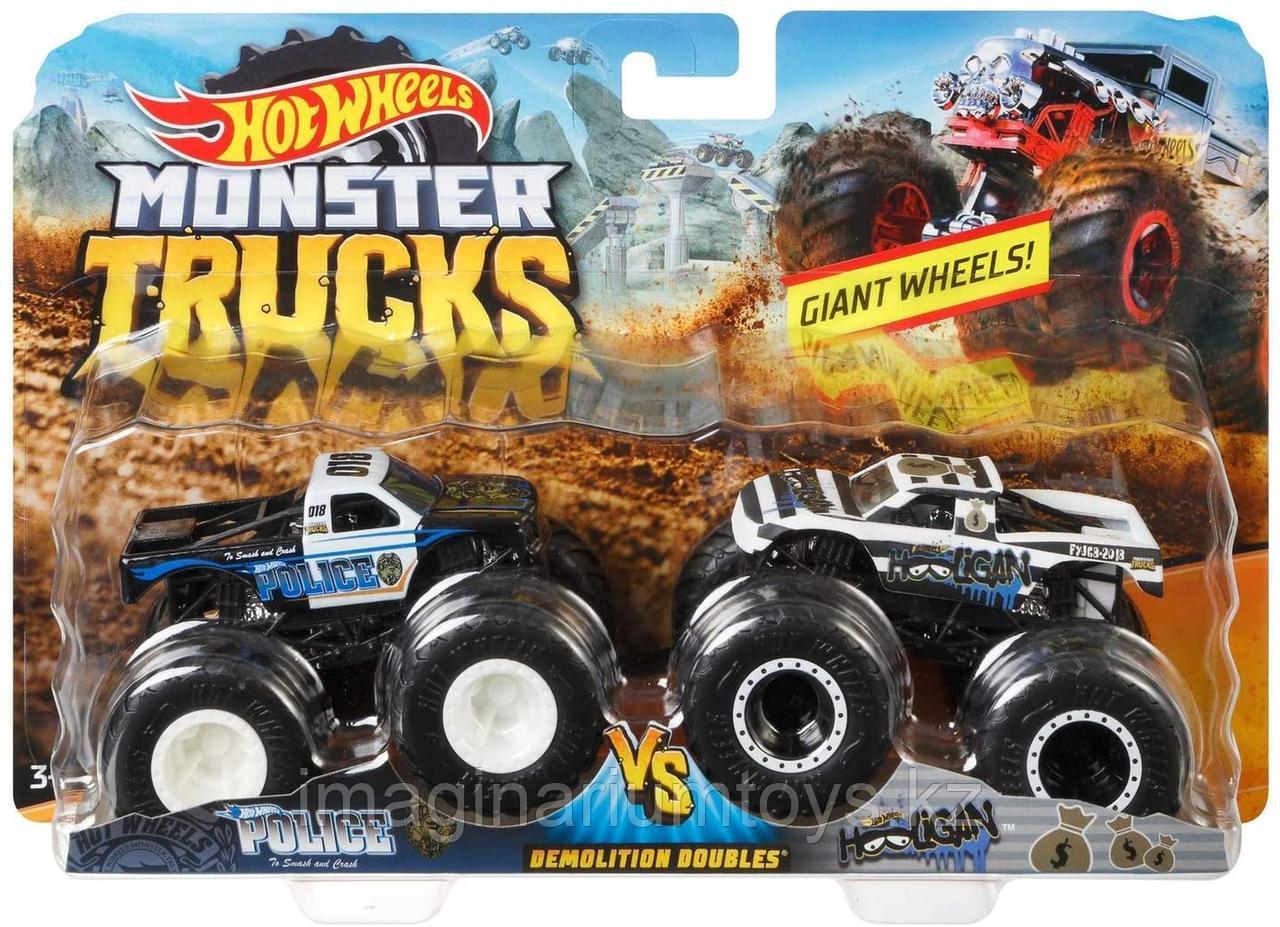 Машинки Hot Wheels Monster Trucks Монстр Трак Полиция набор 2 шт