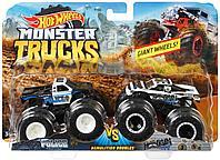 Машинки Hot Wheels Monster Trucks Монстр Трак Полиция набор 2 шт, фото 1