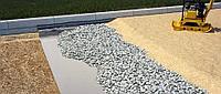 Устройство покрытия с подготовкой основания из песка и щебня
