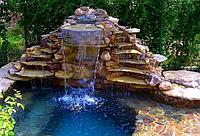 Водоемы, пруды, водопады и фон...