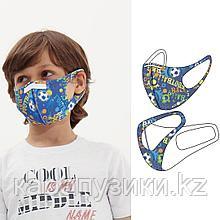 Маски многоразовые детские 3D BlackSpade