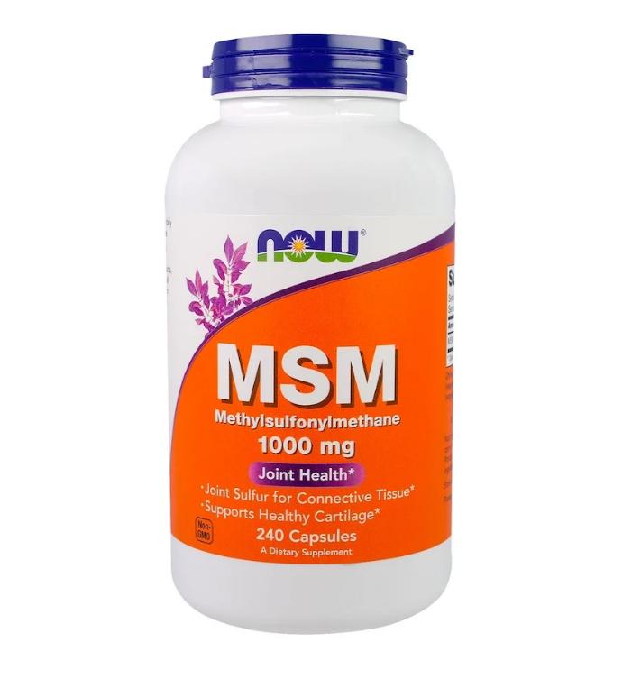 Now Foods, МСМ, метилсульфонилметан, 1000 мг, 240 капсул