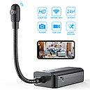 Full HD видео камера с Wi-Fi на гибкой шее, которую легко спрятать в доме, фото 7