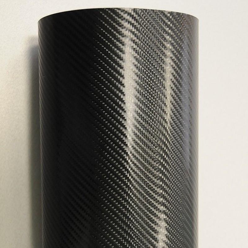 Пленка под карбон 4D - Черный глянец