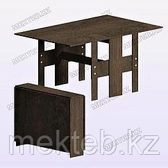 Стол обеденный раскладной темно-коричневый