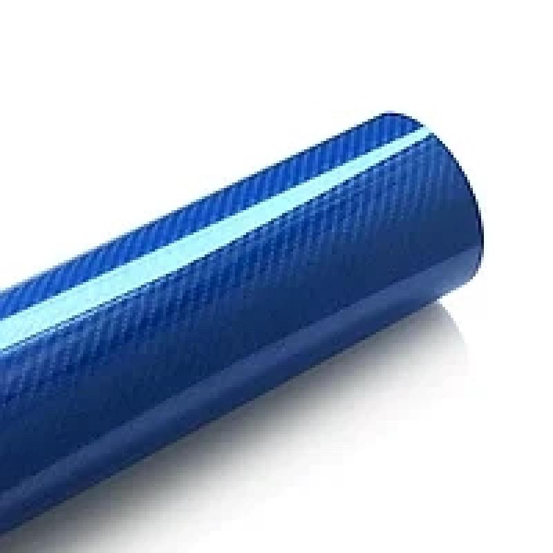Плёнка синий глянец карбон LG 4D