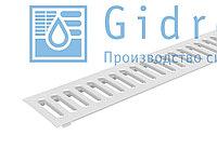 Решетка водоприемная Gidrolica Standart РВ -10.13,6.100 - штампованная стальная оцинкованная Гидролика