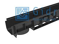 Лоток водоотводный Gidrolica Standart ЛВ-10.14,5.10 - пластиковый Гидролика