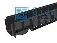 Лоток водоотводный Gidrolica Standart ЛВ-10.14,5.12 - пластиковый Гидролика