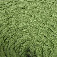 Пряжа трикотажная широкая 50м/160гр, ширина нити 7-9 мм (210 оливковый)