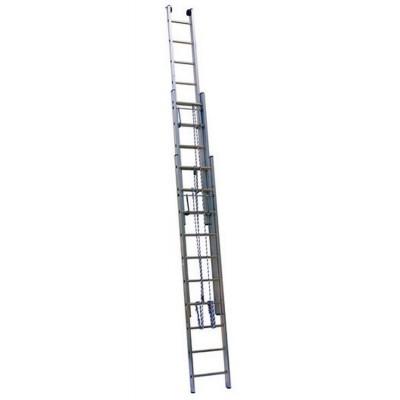 Лестница Алюмет 3316 серия SR3 выдвижная с канатной тягой (3x16ст.)