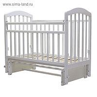 Кроватка детская «Лира-5», универсальный маятник, без ящика, размер 119 x 60 см, белый