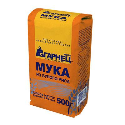 Мука Гарнец рисовая цельнозерновая из бурого риса, 500 гр
