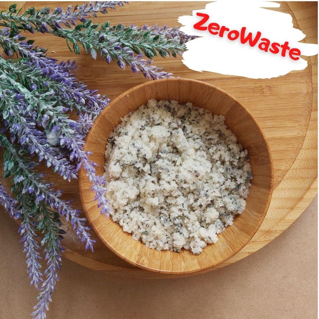 Натуральный солевой скраб с лавандой для тела на развес