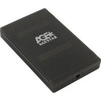 Внешний корпус для HDD/SSD AgeStar SUBCP1 SATA пластик черный 2.5'