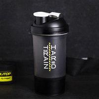 Шейкер спортивный 'Будь смелым', с чашей под протеин, 500 мл