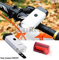Набор велосипедный передний и задний фонари X-BALOG BL-408 5W-COB белый