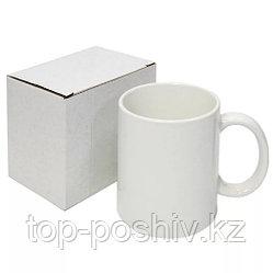 Кружка белая для сублимации в индивидуальной коробочке