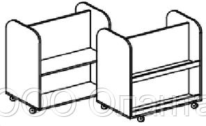 Стеллаж для книг и настольных игр двухсторонний (800х400х816 мм) арт. Б3