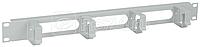 Органайзер кабельный 19 дюйм 1U 4 кольца сер. ITK CO35-1M4RM
