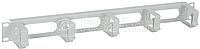 Органайзер кабельный 19 дюйм 1U 5 колец сер. ITK CO35-1M5RM
