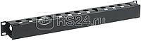 Органайзер кабельный 19 дюйм 1U с крышкой черн. ITK CO05-1MCM