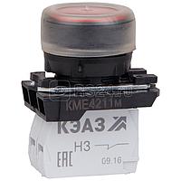 Кнопка КМЕ 4211м 1но+1нз цилиндр IP65 красн. КЭАЗ 248244
