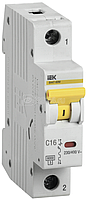 Выключатель автоматический модульный 1п C 16А 6кА ВА47-60M ИЭК MVA31-1-016-C