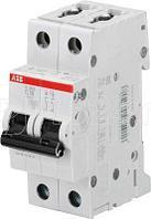 Выключатель автоматический модульный 2п C 40А 6кА S202 C40 ABB 2CDS252001R0404