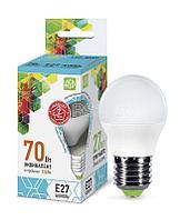 Лампа светодиодная LED-ШАР-standard 7.5Вт ШАР 4000К бел. E27 675лм 160-260В ASD 4690612003993