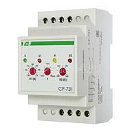Реле напряжения CP-731 (трехфазный; микропроцессорный; контроль верхнего и нижнего значений напряжения; контроль асимметрии; чередования фаз; монтаж