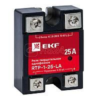 Реле твердотельное однофазное с регулированием 4-20мА RTP-25-LA PROxima EKF rtp-1-25-la