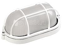 Светильник НПП 1402 60Вт E27 IP54 бел. овал с решеткой ИЭК LNPP0-1402-1-060-K01