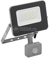 Прожектор СДО 07-20Д LED 20Вт IP44 6500К с датчиком движ. сер. ИЭК LPDO702-20-K03