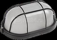 Светильник НПП 1402 60Вт E27 IP54 черн. овал с решеткой ИЭК LNPP0-1402-1-060-K02