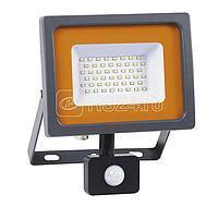 Прожектор светодиодный PFL-SC-SMD-30Вт sensor 30Вт IP54 6500К мат. стекло JazzWay 5001411